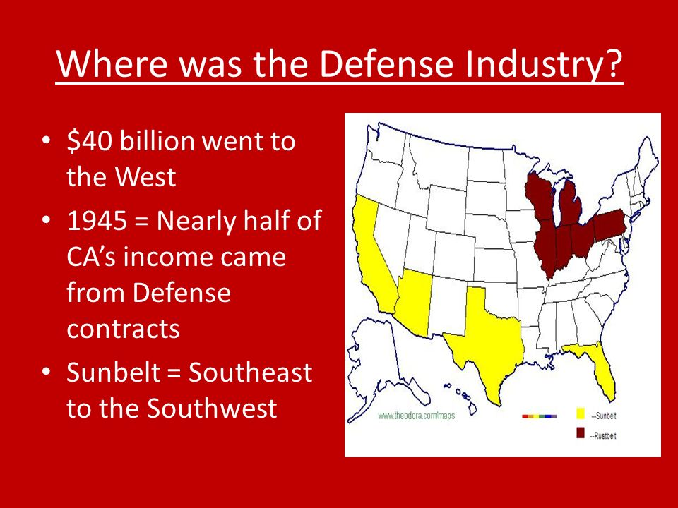 Where was the Defense Industry.