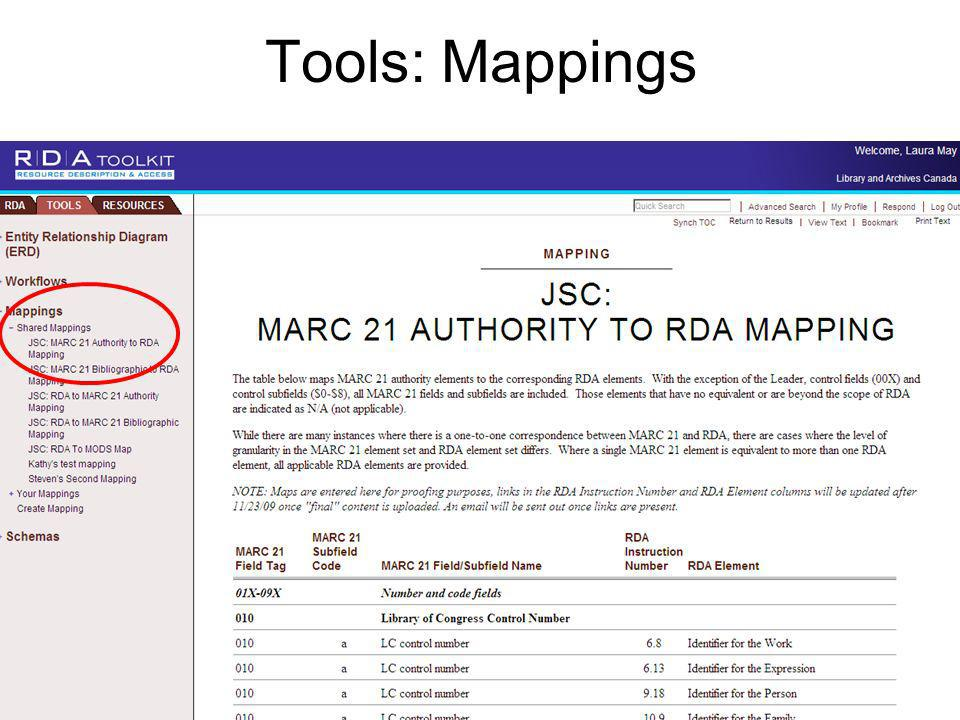 Tools: Mappings
