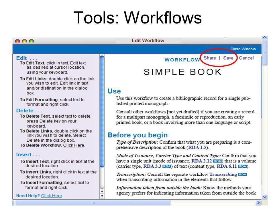 Tools: Workflows