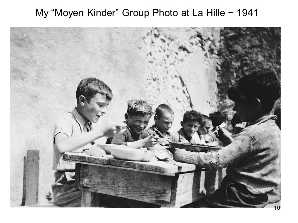 My Moyen Kinder Group Photo at La Hille ~ 1941 10