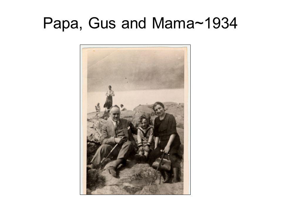 Papa, Gus and Mama~1934