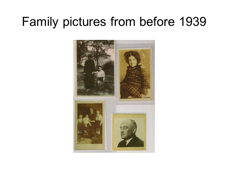 Family pictures from before 1939