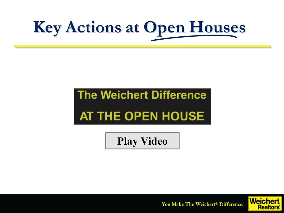 Key Actions at Open Houses Play Video