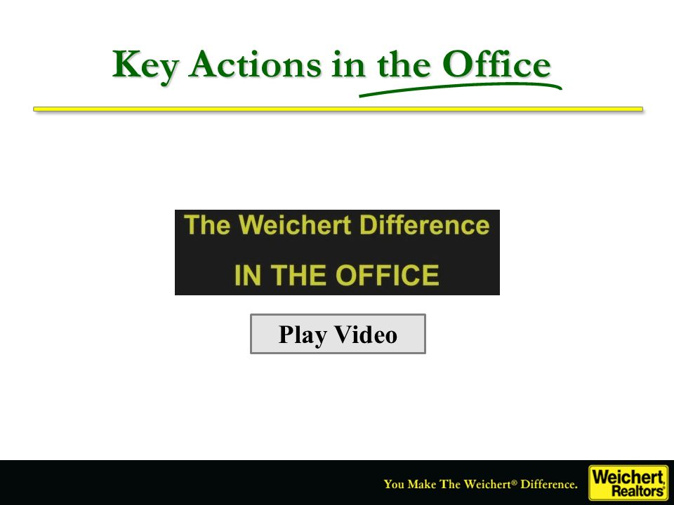 Key Actions in the Office Play Video