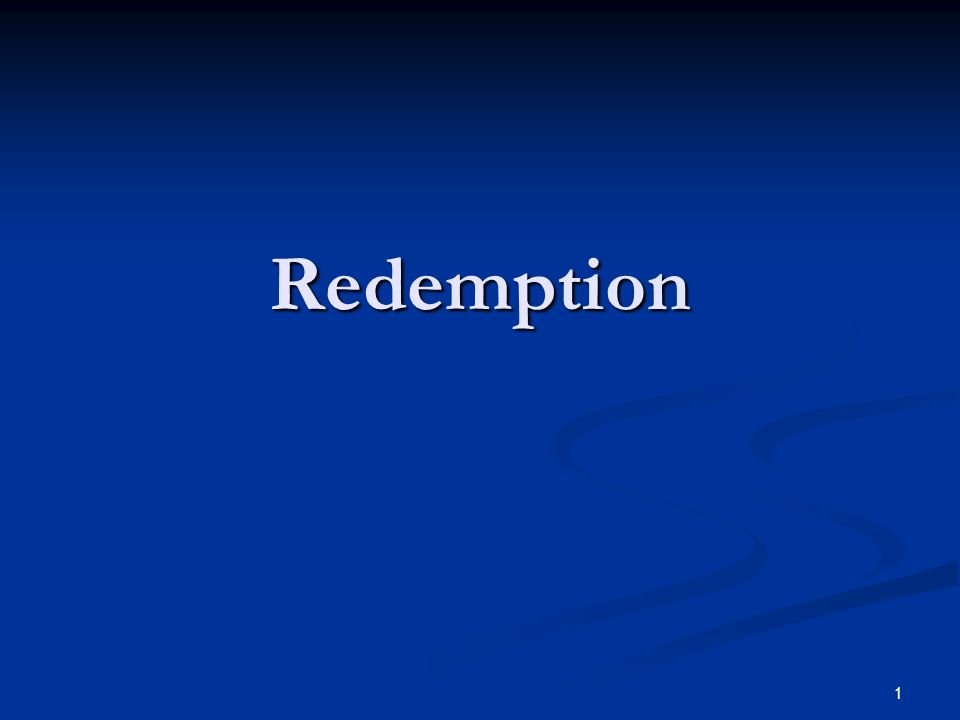 Redemption 1