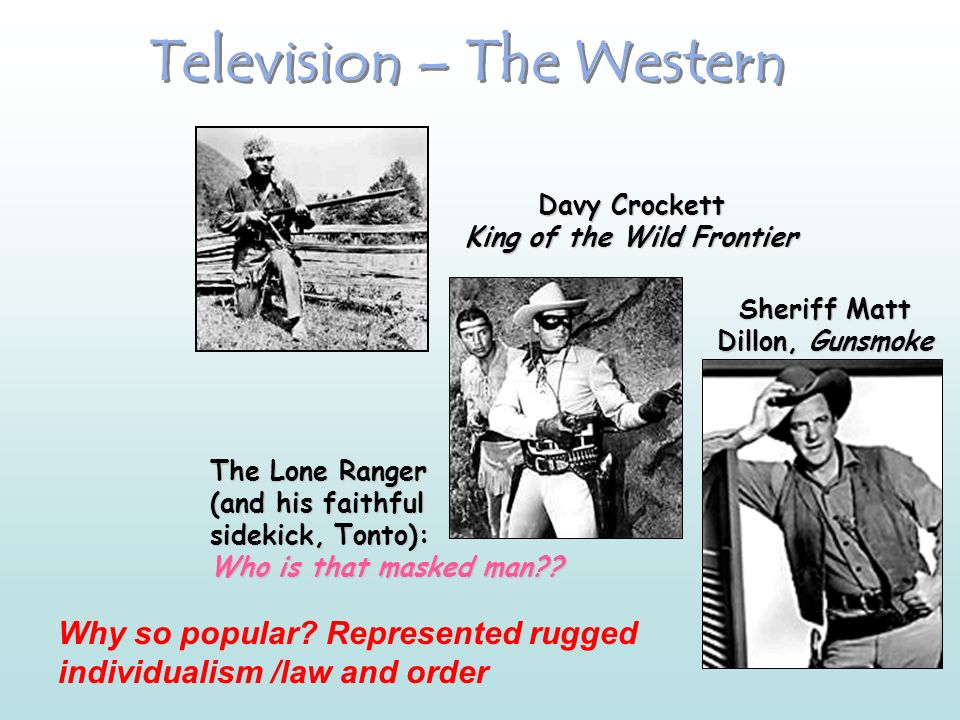 Transmission of a Common American Culture The Typical TV Suburban Families The Donna Reed Show 1958-1966 Leave It to Beaver 1957-1963 Father Knows Bes