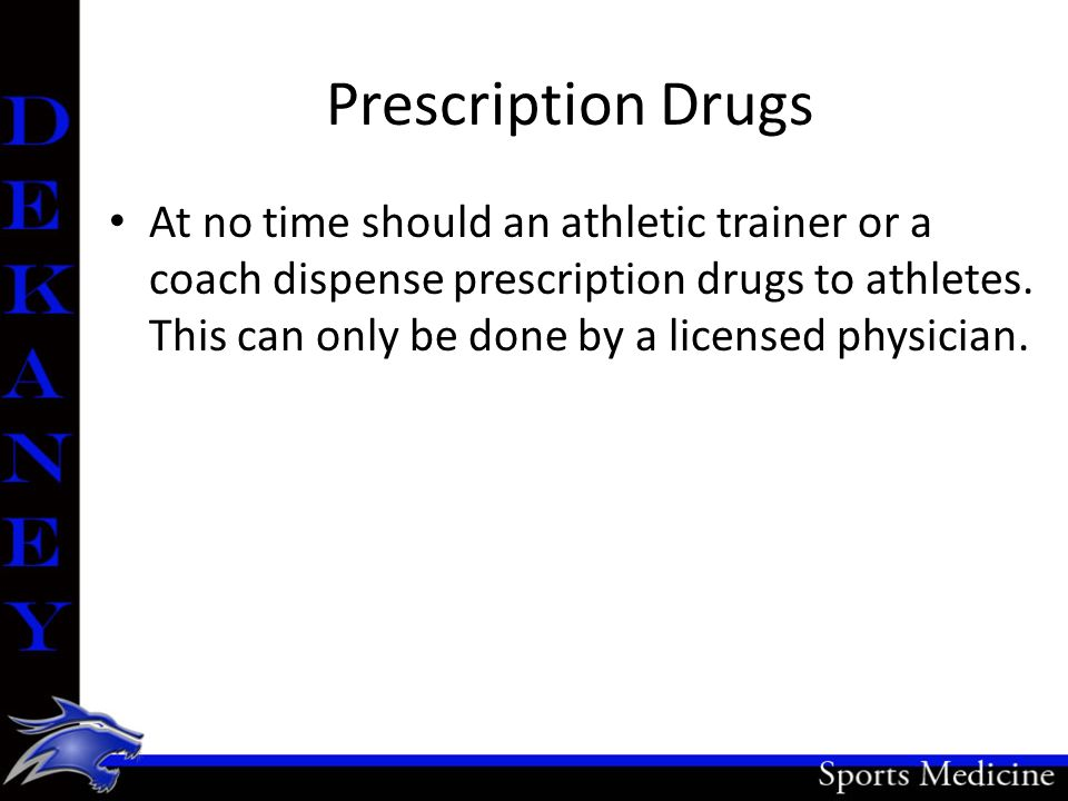 OTC Drugs (Over the Counter) An athletic trainer MAY be allowed to administer a single dose of OTCs.
