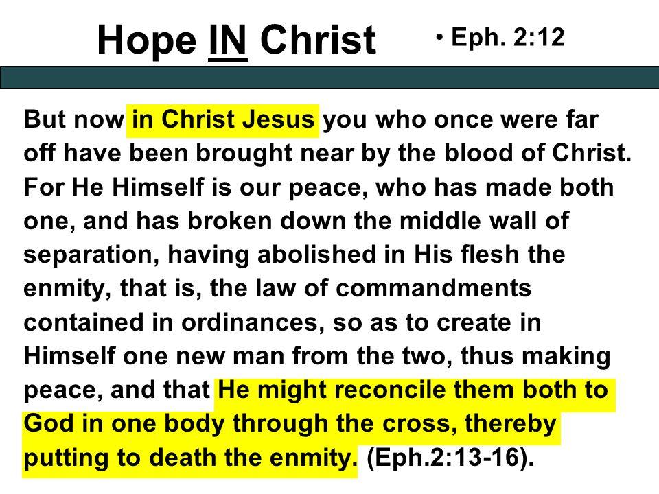 Hope IN Christ Eph.