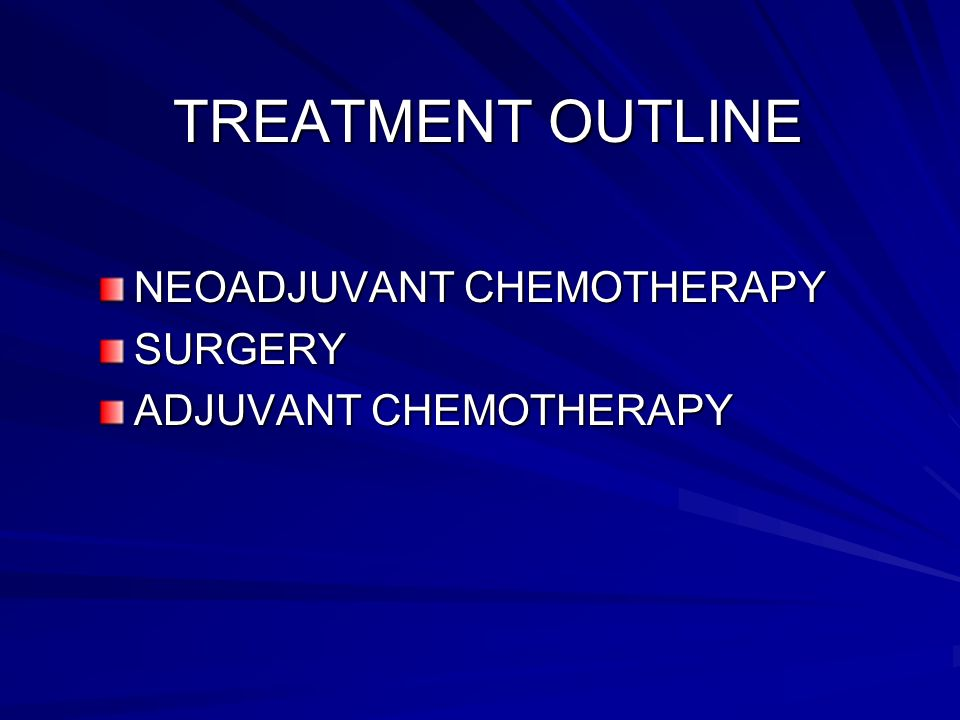 FIRST LINE CHEMOTHERAPY REGIMEN 1 : CISPLATIN (100mg/m2 24-hour infusion) CISPLATIN (100mg/m2 24-hour infusion) ADRIAMYCIN (25mg/m2 iv daily D1-D3 ).