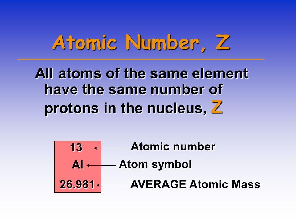 ATOMIC COMPOSITION Protons (p + )Protons (p + ) –+ electrical charge –mass = 1.672623 x 10 -24 g –relative mass = 1.007 atomic mass units (amu) but we