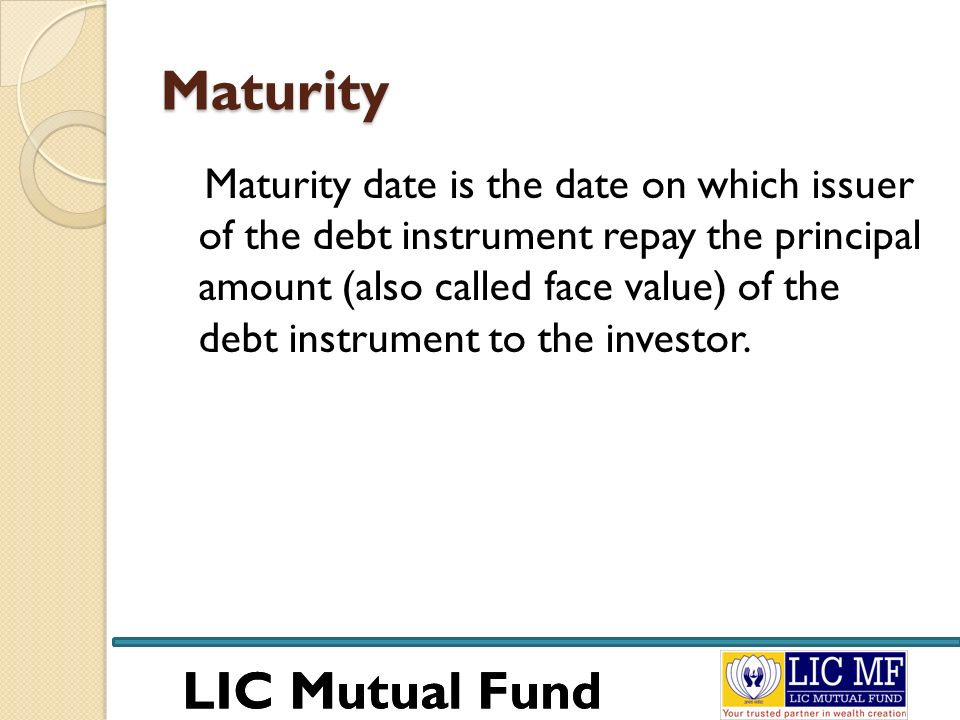 LIC Mutual Fund Returns Of A Money Market Mutual Fund Generally a money market mutual fund provides return Higher than saving bank account but Lower than bank fixed deposits.