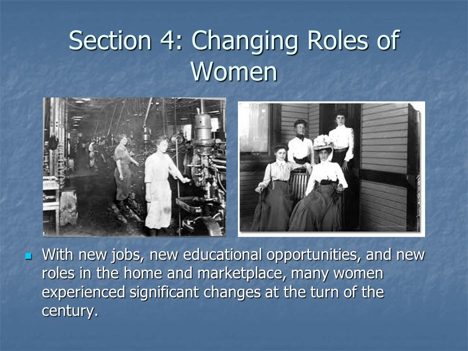 Womens Equality Traditionally, women worked at home or on the farm.