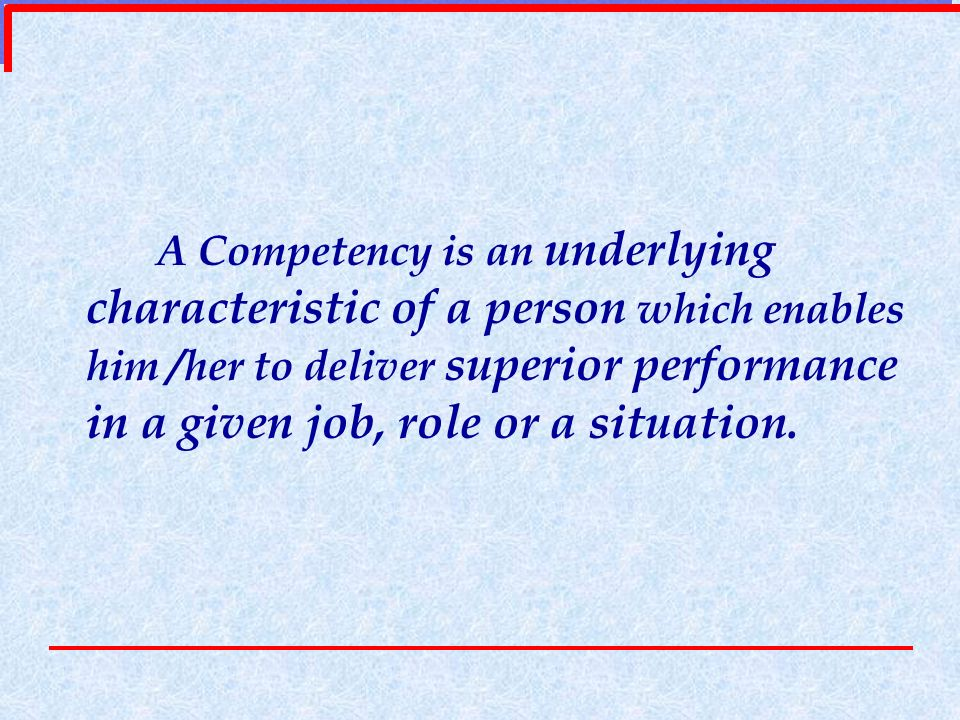 Holistic Application Competencies Help companies raise the bar of performance expectations.