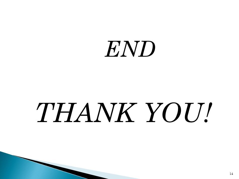END THANK YOU! 14