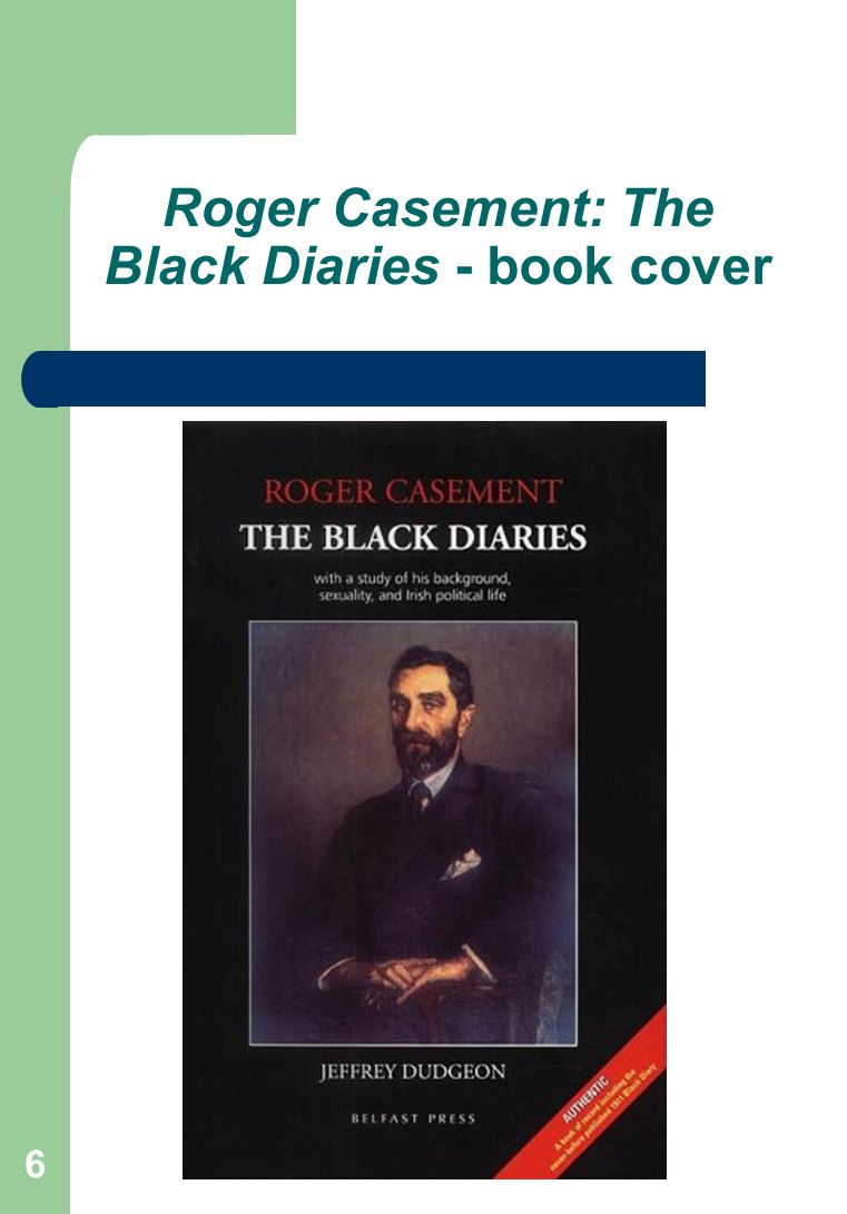 6 Roger Casement: The Black Diaries - book cover
