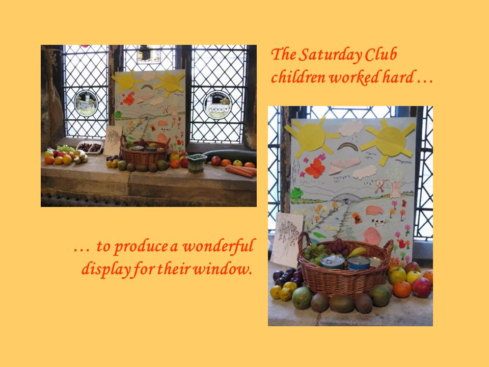 The Saturday Club children worked hard … … to produce a wonderful display for their window.