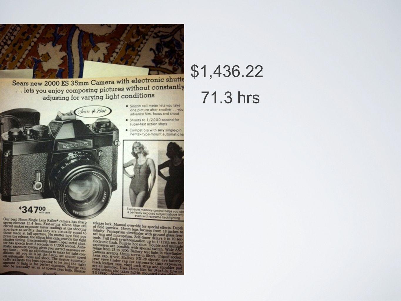 $1,436.22 71.3 hrs