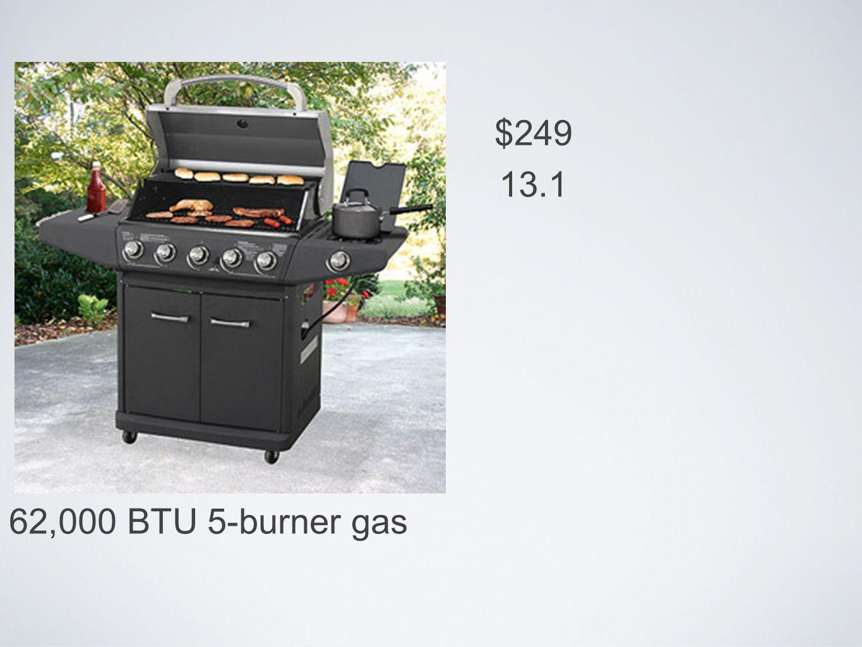 62,000 BTU 5-burner gas $249 13.1
