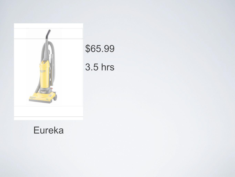 Eureka $65.99 3.5 hrs