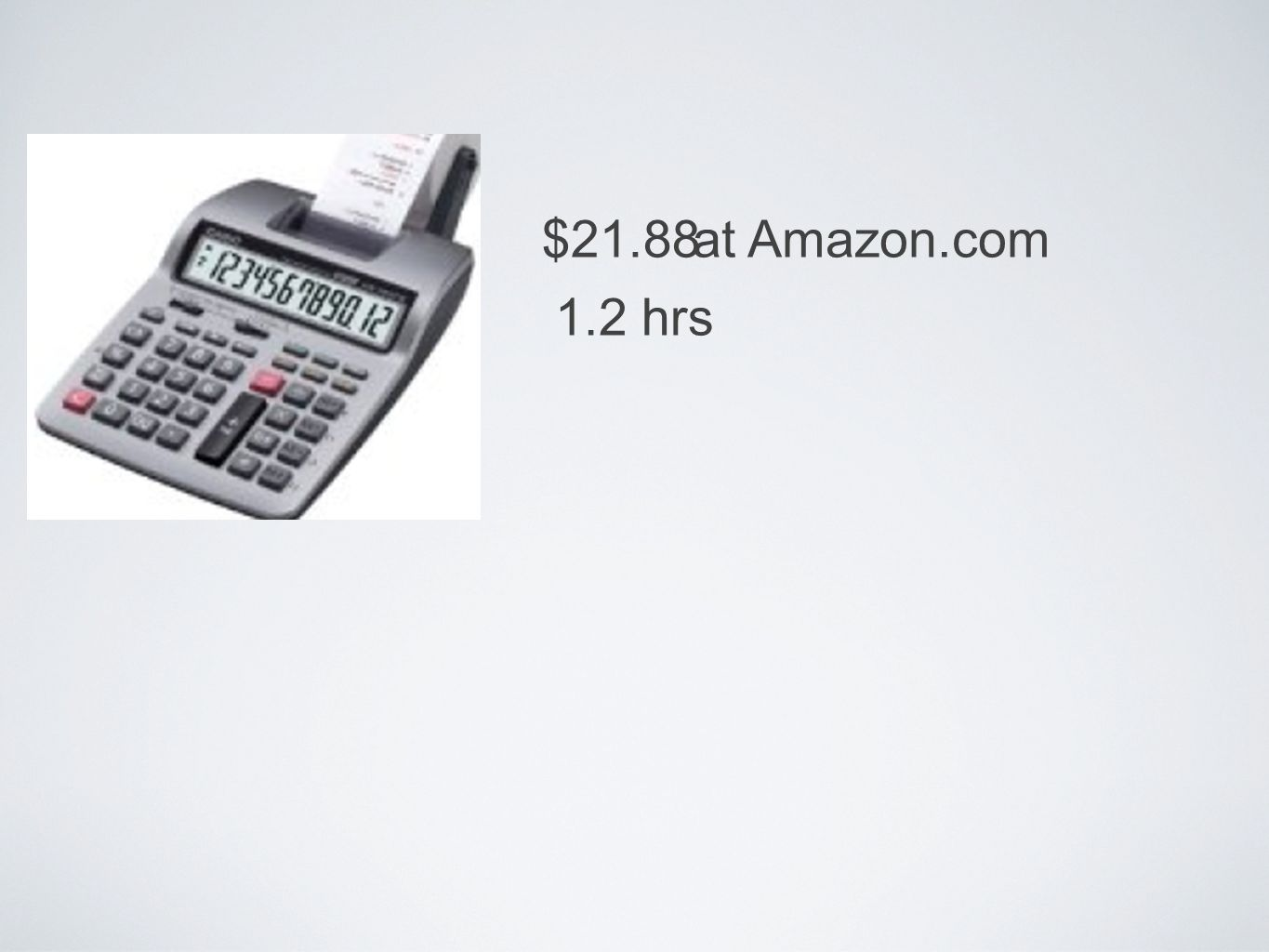 $21.88 1.2 hrs at Amazon.com