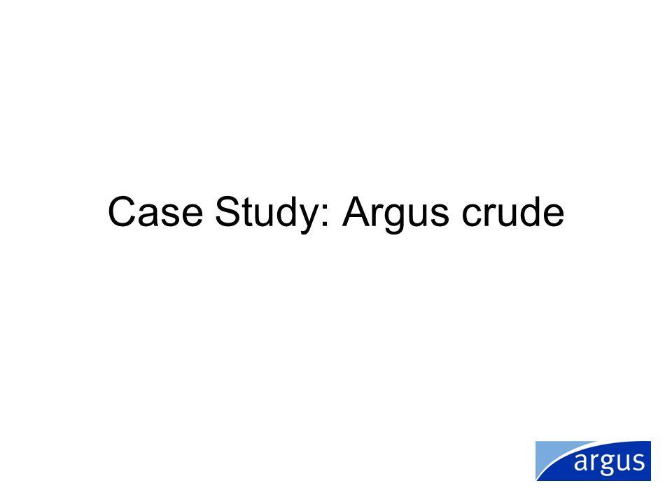 Case Study: Argus crude