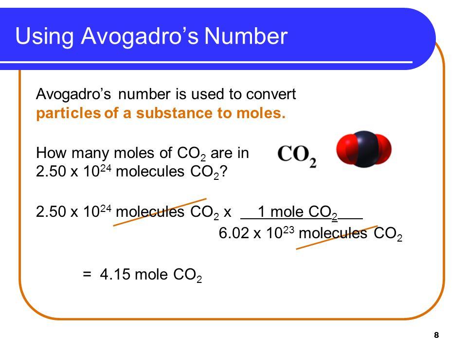 9 1.The number of atoms in 2.0 mole Al is A. 2.0 Al atoms.