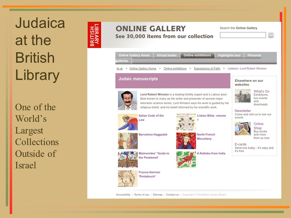 Judaica at the British Library One of the Worlds Largest Collections Outside of Israel