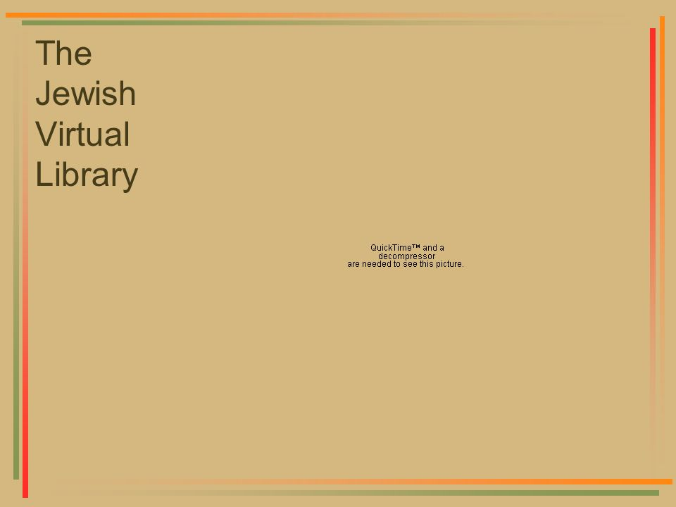 The Jewish Virtual Library