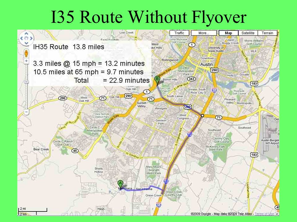 I35 Route Without Flyover