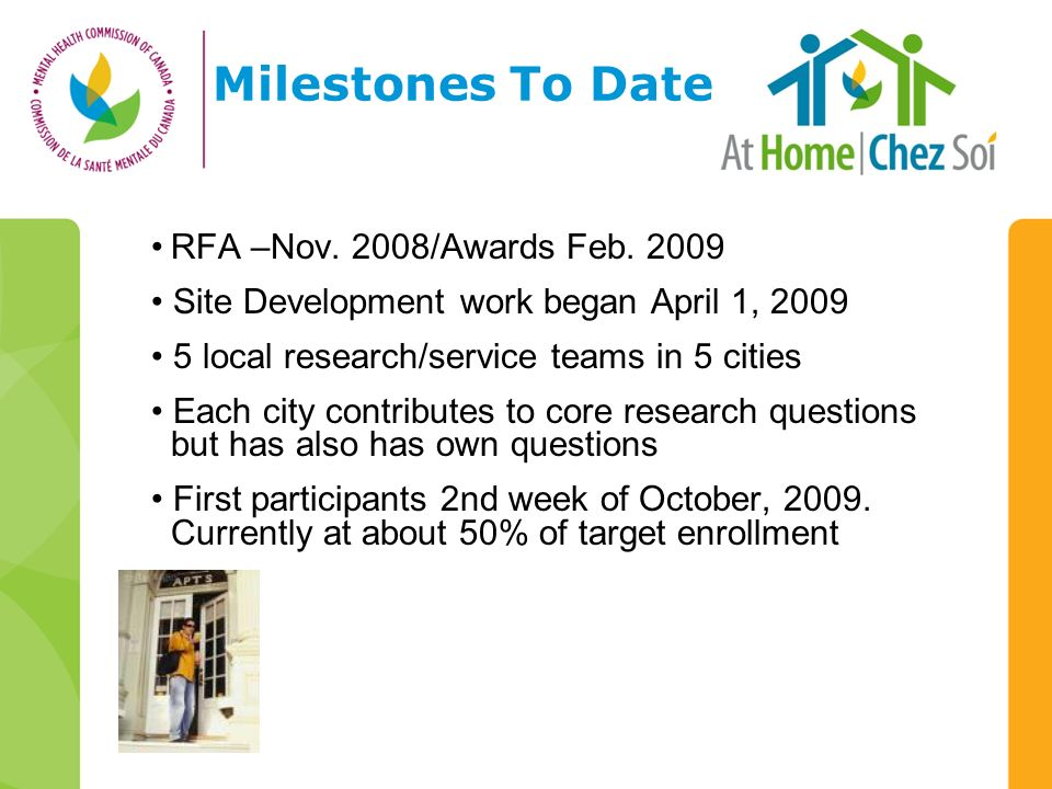 Milestones To Date RFA –Nov. 2008/Awards Feb.