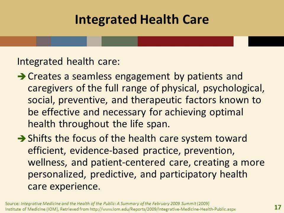 18 The Cost Benefit of Integrated Care Individuals with co-occurring substance abuse/medical problems randomized to integrated care had significantly lower total medical costs than those in independent care.