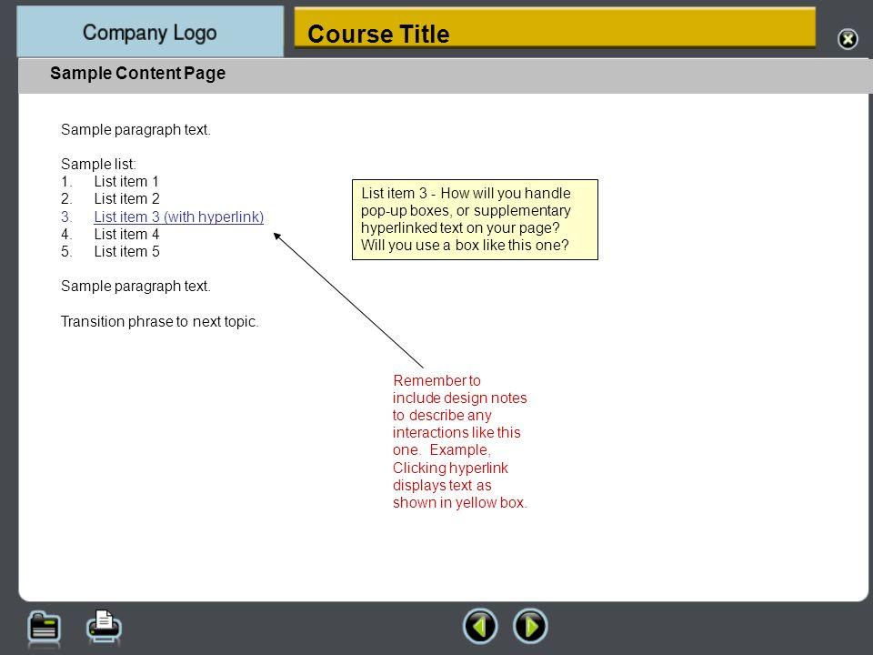 Sample Summary Page Summary text here.Summary text here.