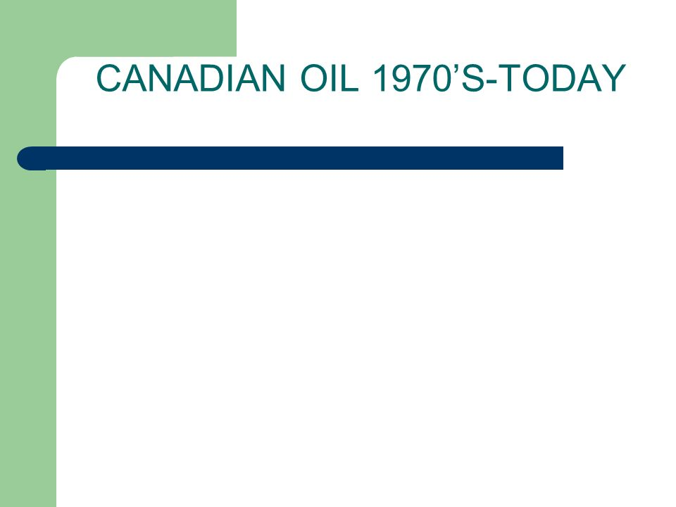 CANADIAN OIL 1970S-TODAY