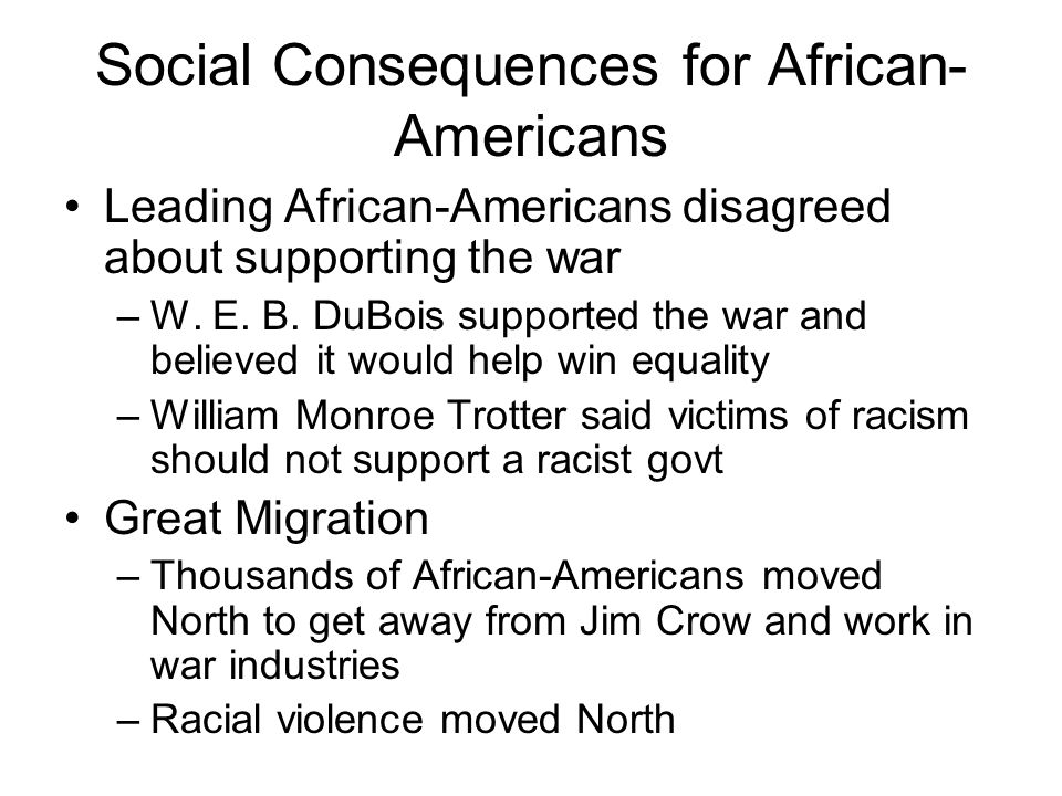 Social Consequences for Women New jobs: railroad workers, coal miners, ship- building, etc.