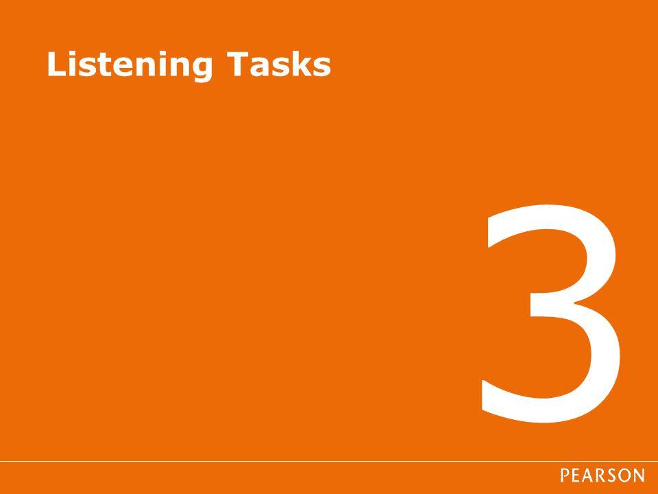 3 Listening Tasks