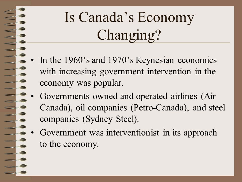 Is Canadas Economy Changing.