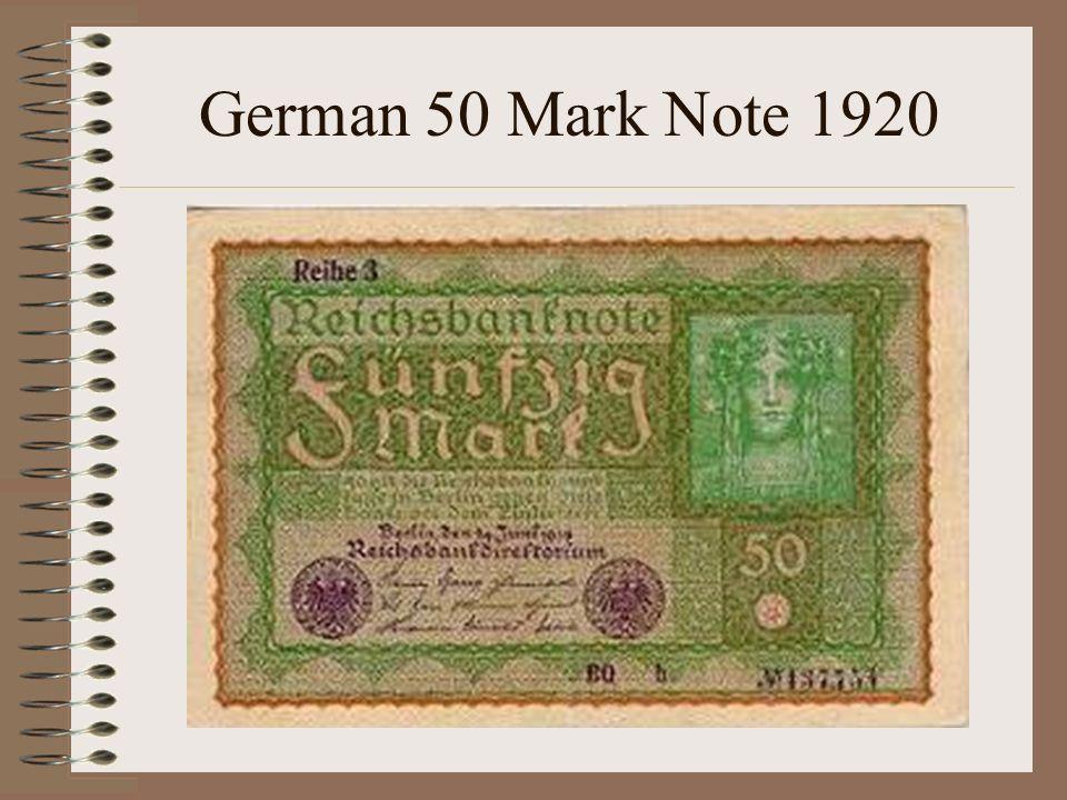 German 50 Mark Note 1920