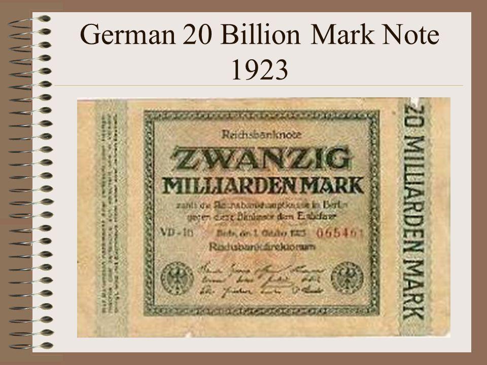 German 20 Billion Mark Note 1923