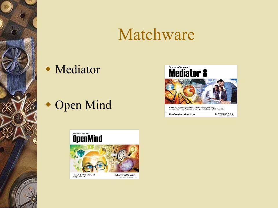 Matchware Mediator Open Mind