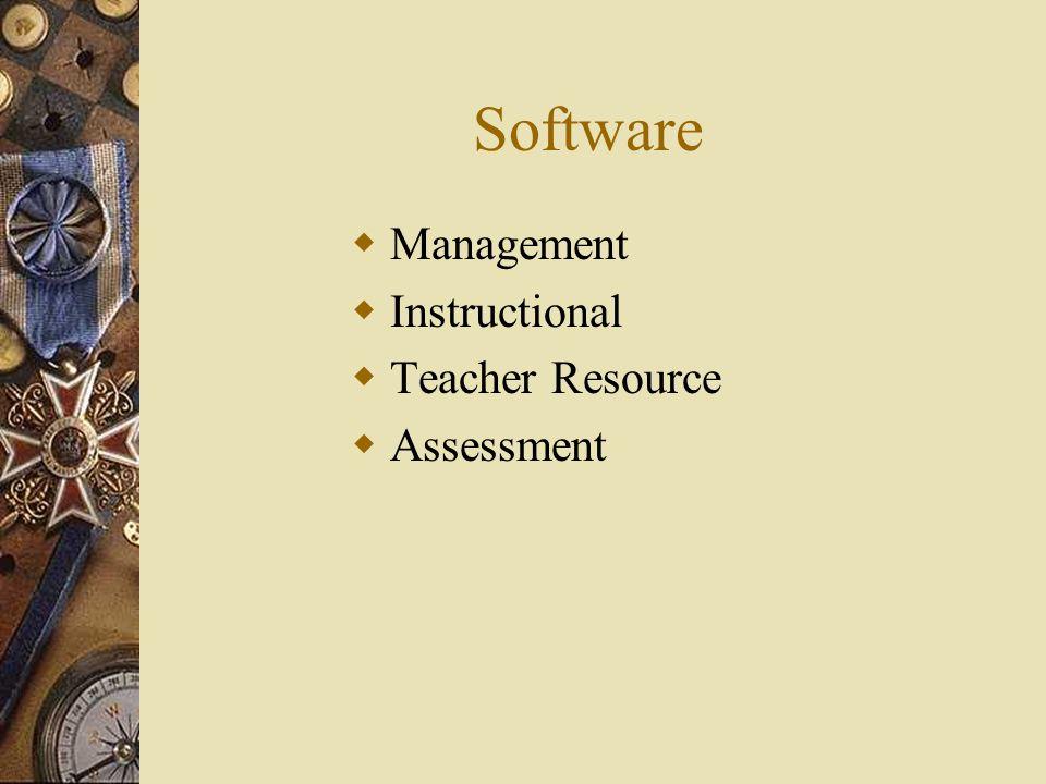 Software Management Instructional Teacher Resource Assessment
