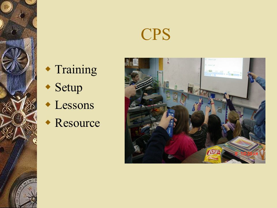 CPS Training Setup Lessons Resource