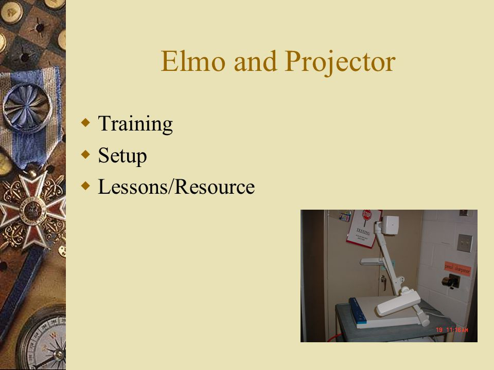 Elmo and Projector Training Setup Lessons/Resource