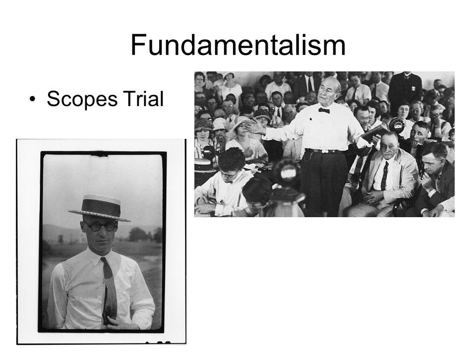 Fundamentalism Scopes Trial