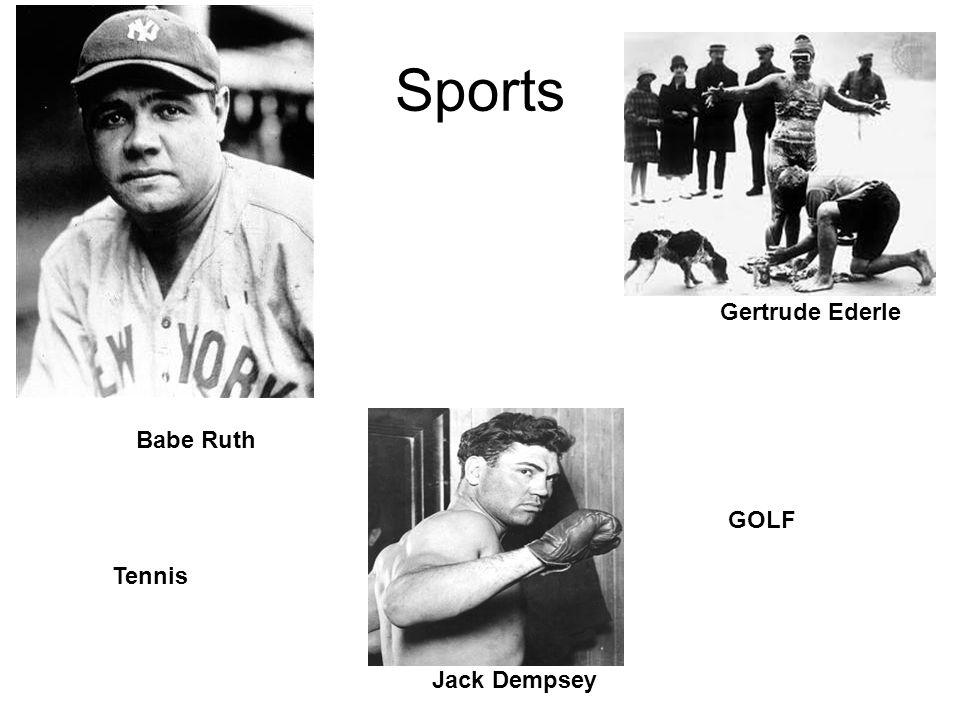 Sports Babe Ruth Gertrude Ederle Jack Dempsey GOLF Tennis