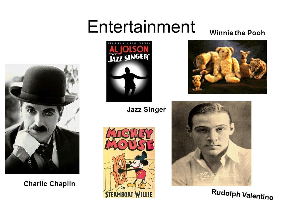 Entertainment Charlie Chaplin Jazz Singer Rudolph Valentino Winnie the Pooh