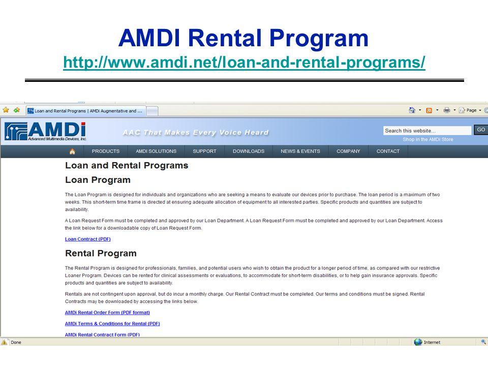 AMDI Rental Program http://www.amdi.net/loan-and-rental-programs/ http://www.amdi.net/loan-and-rental-programs/