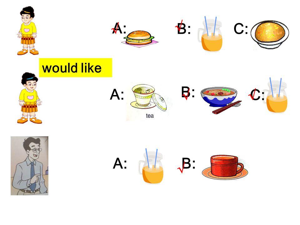 would like A: B:C: A: B: C: A:B: