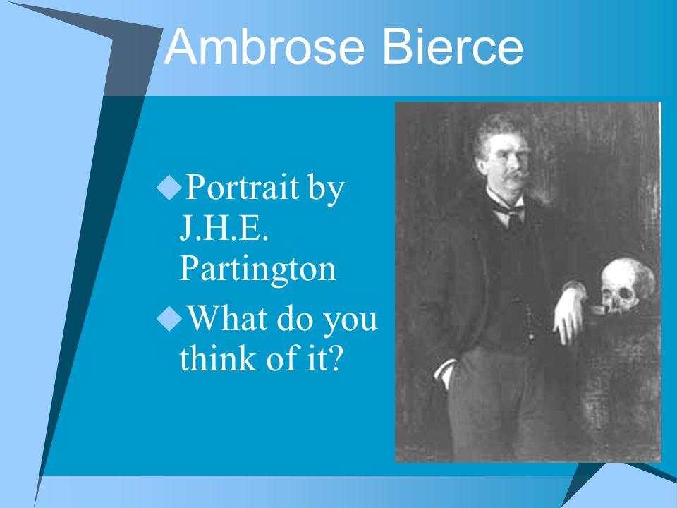 Portrait by J.H.E. Partington What do you think of it