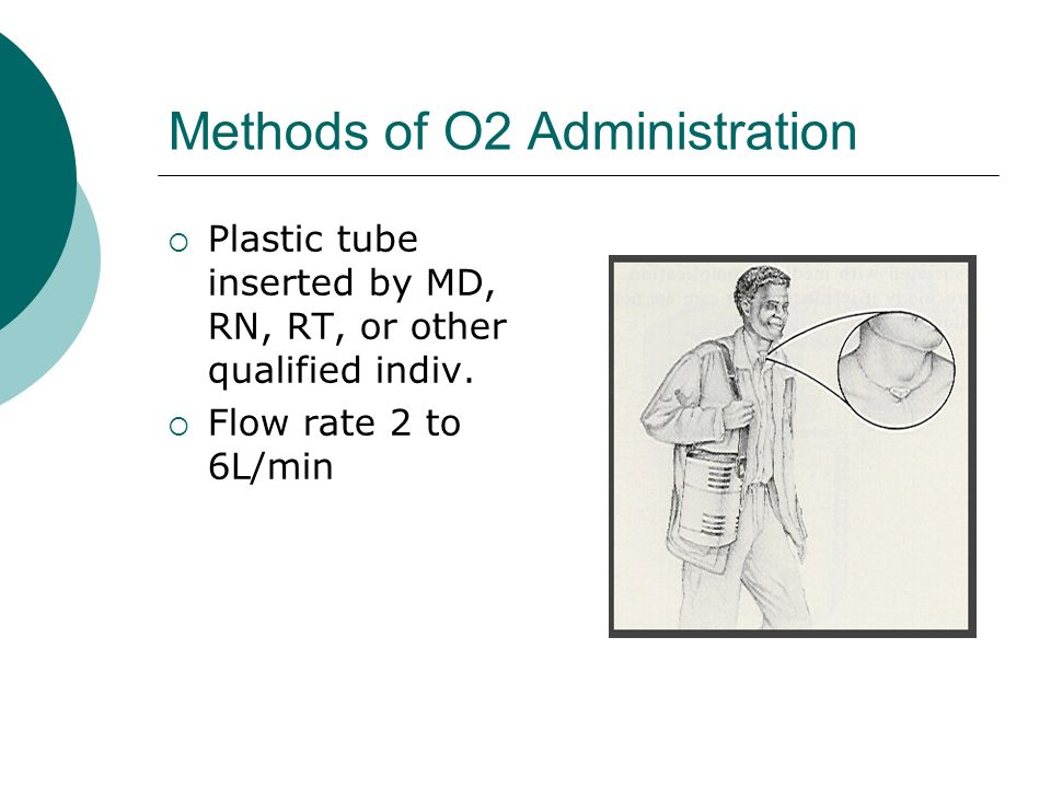 Methods of O2 Administration Plastic tube inserted by MD, RN, RT, or other qualified indiv.