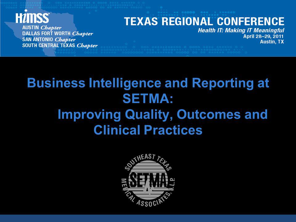 CLICK TO EDIT MASTER TITLE STYLE AUDITING PERFORMANCE Beyond how one provider performs (tracking and auditing), SETMA looks at data as a whole (analyzing) from which to develop new strategies for improving patient care.